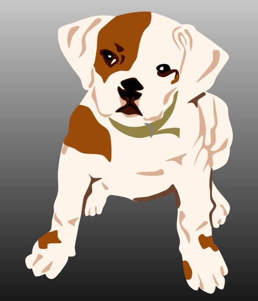 Bulldog Puppy Clip Art At Clker Com   Vector Clip Art Online Royalty