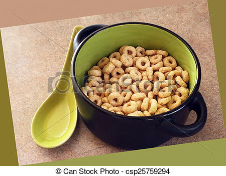 Cereal Bowl Clipart Bowl Of Cheerios Cereal