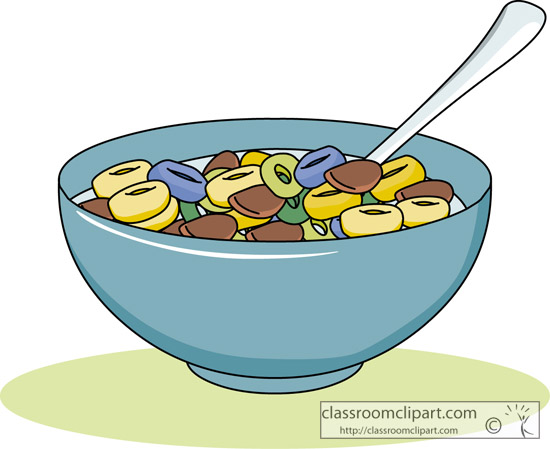 Cereal Clipart Bowl Of Cereal Jpg