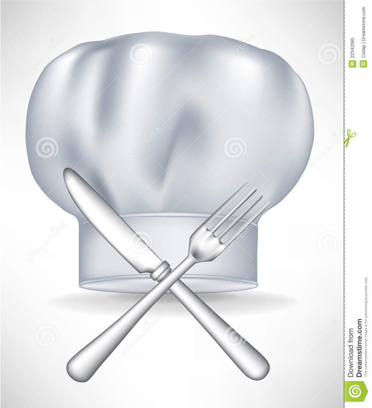 Chef Hat With Crossed Knife And Fork Royalty Free Stock Photo   Image