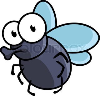 Fly Cartoon Abstract Vector Art Illustration Image Contains