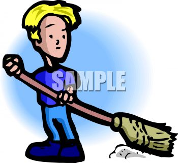 Image 0511 1002 2017 2407 A Young Boy Sweeping Clipart Image Jpg