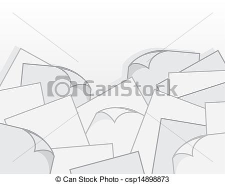 Large Pile Of Paper With Curled Pages Csp14898873   Search Clipart