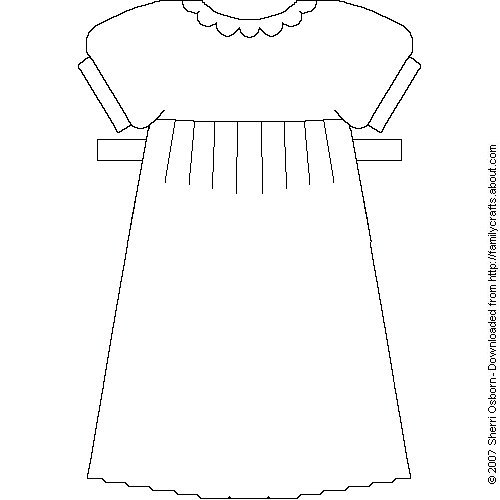 Puffed Short Sleeve Long Dress   Printable Paper Dresses And Skirts