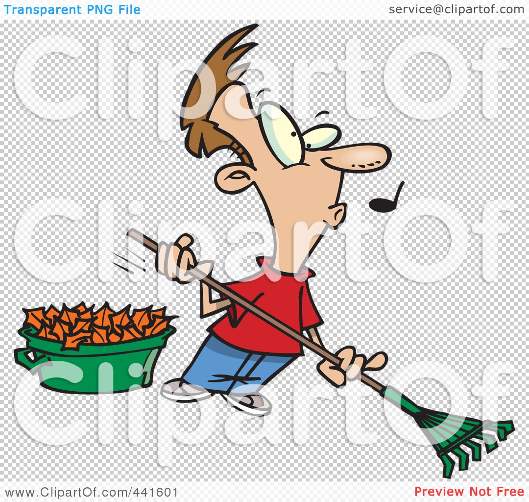 Raking Leaves Clipart Black And White   Clipart Panda   Free Clipart