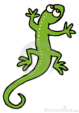 Red Lizard Clipart