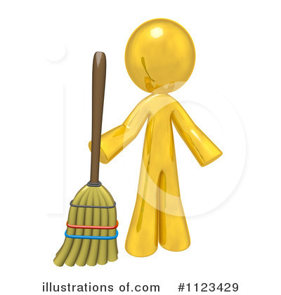 Sweeping Clipart  1123429   Illustration By Leo Blanchette