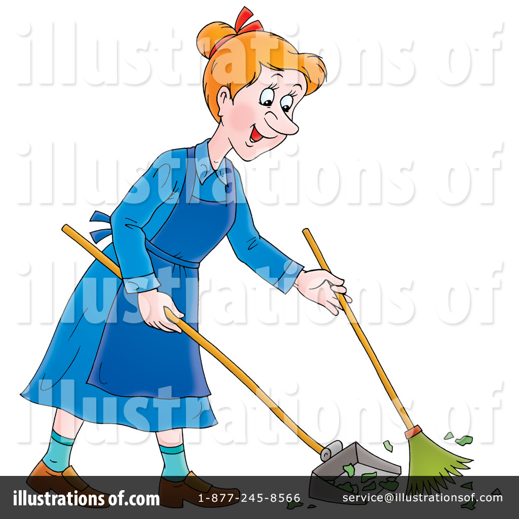 Sweeping Clipart  435171 By Alex Bannykh   Royalty Free  Rf  Stock