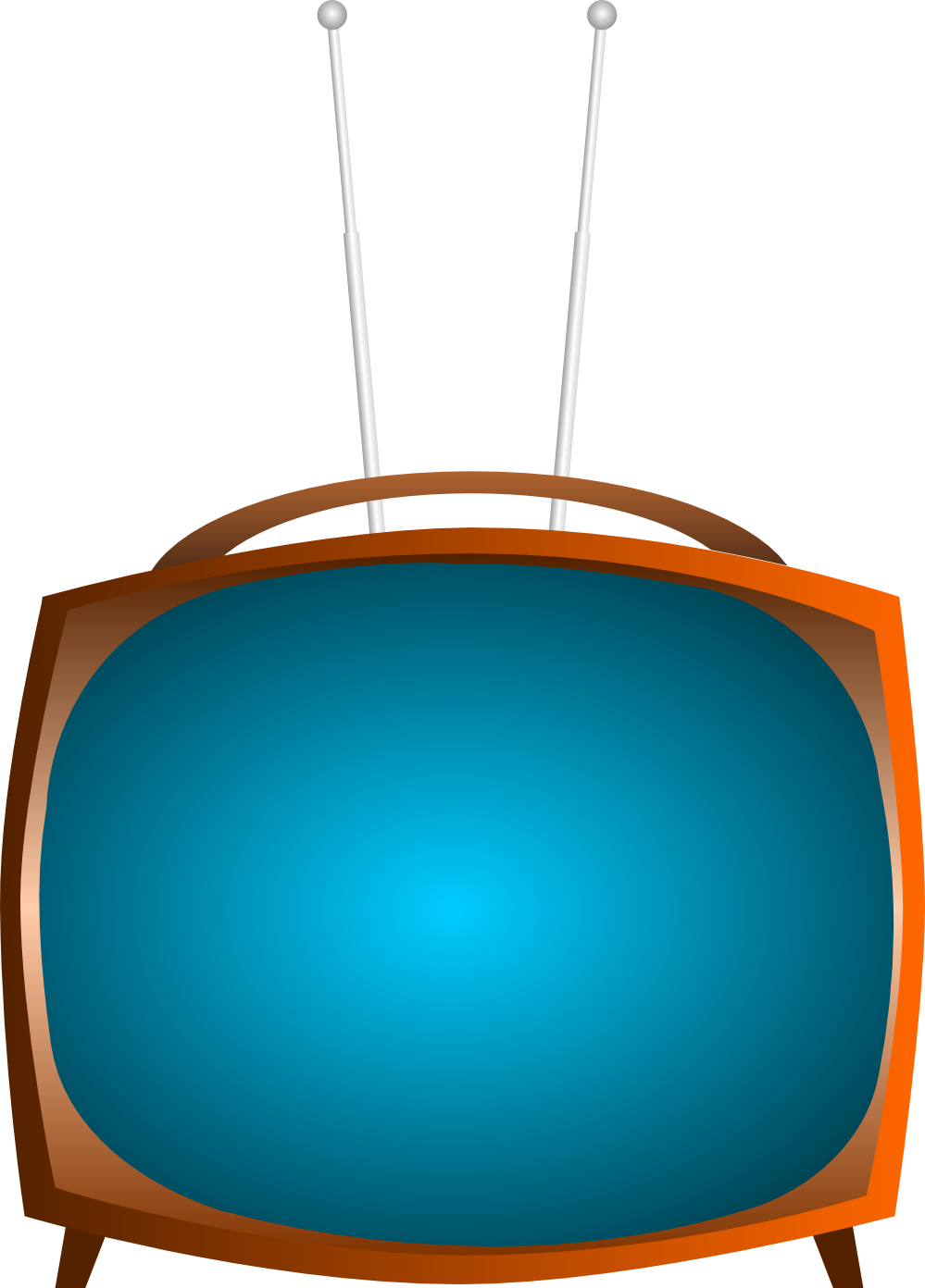 Old Television Clipart - Clipart Kid