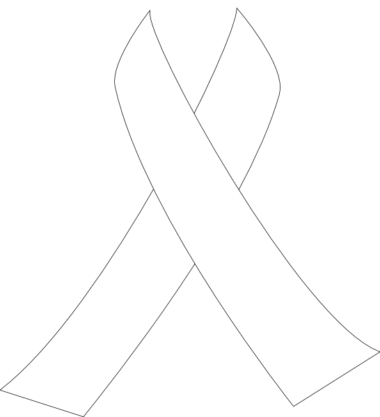 546 X 599   33 Kb   Png Cancer Ribbon Clip Art Black And White