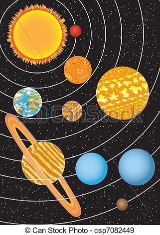 nine planets drawing - photo #7