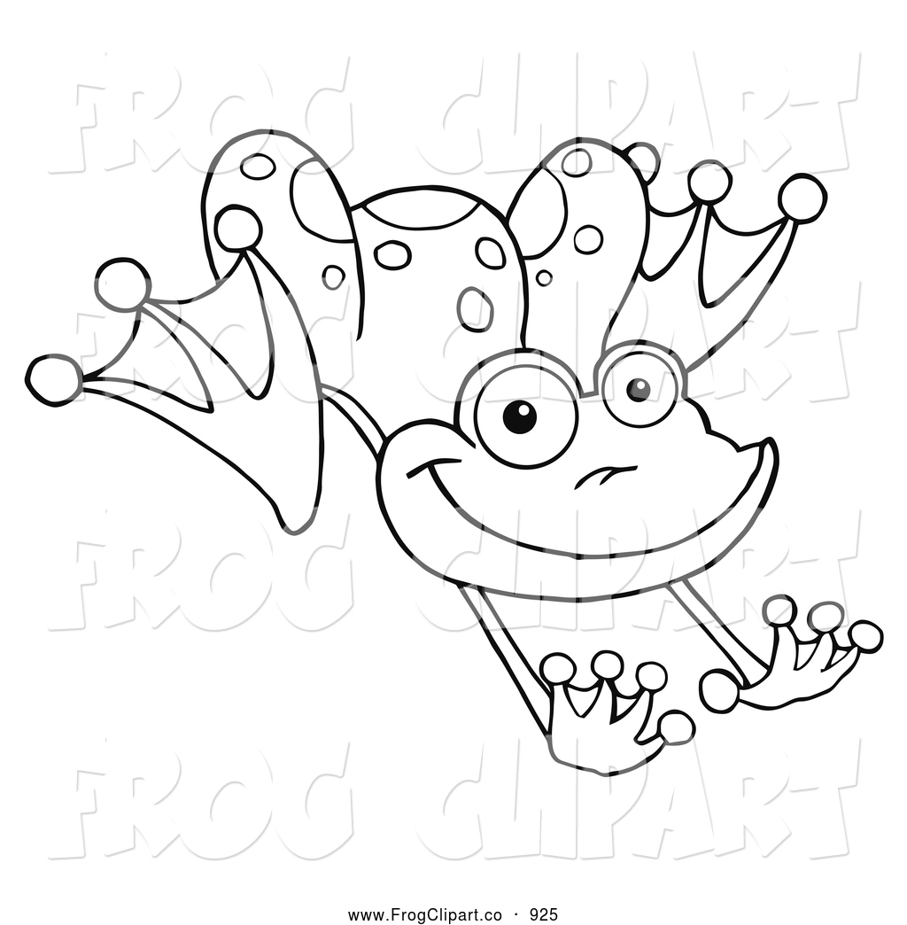 Black And White Leaping Frog Frog Clip Art Hit Toon
