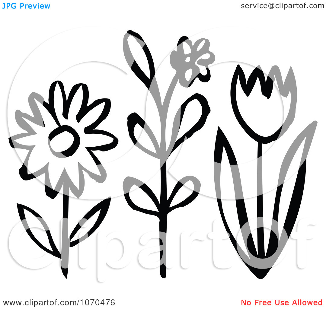 black and white flowers spring clipart clipart kid