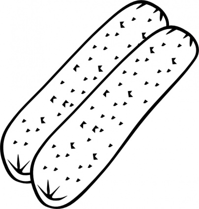 Download Breakfast Sausage  B And W  Clip Art Vector For Free