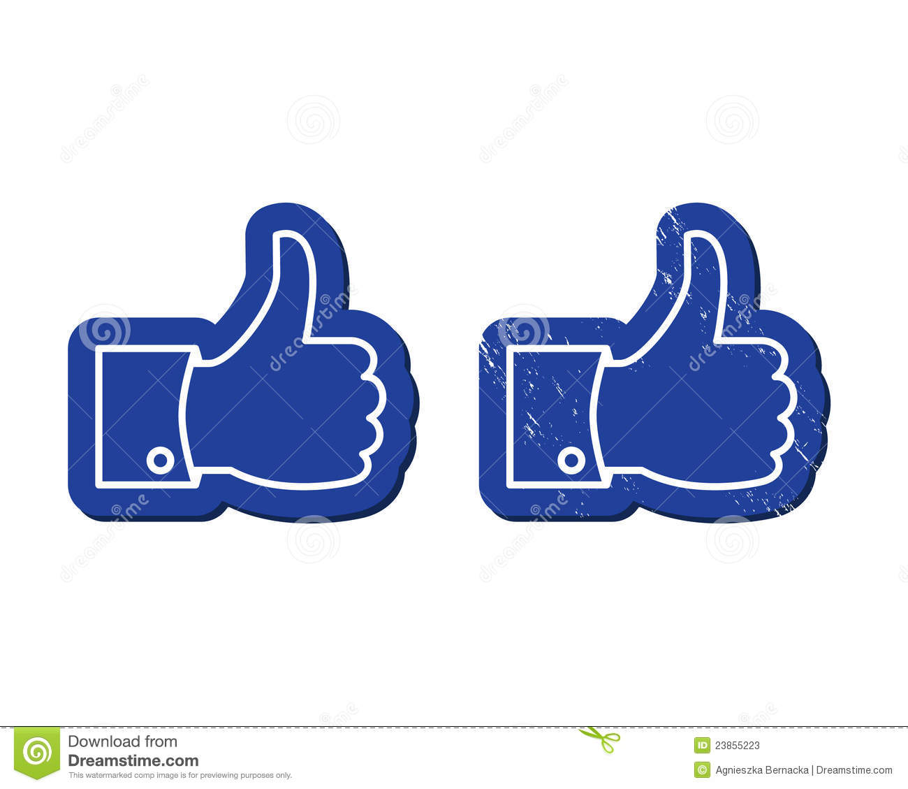 Facebook Like Buttons   Mordern And Retro Stock Photos   Image