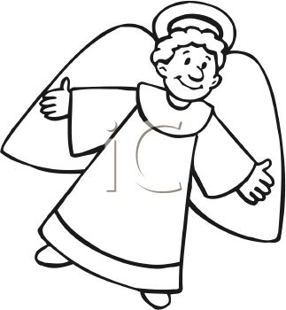 Clip Art Of Angel Flying Clipart - Clipart Kid