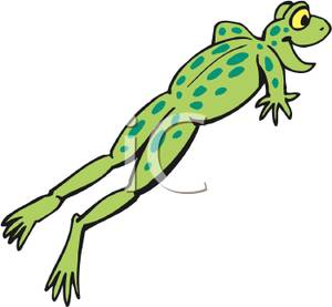 Leaping Frog   Royalty Free Clipart Picture