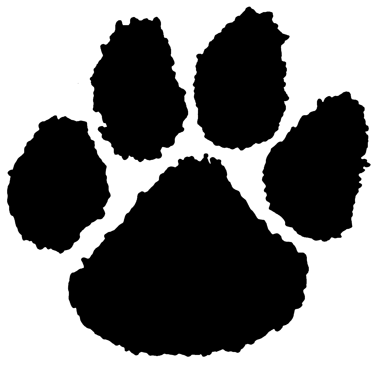 tiger paw print clipart clipart suggest
