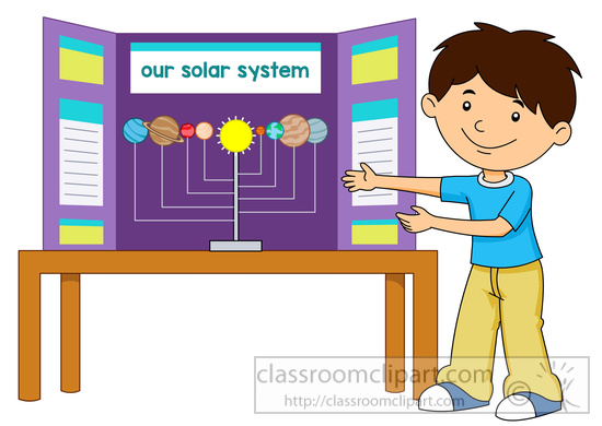 Shows His Science Fair Project Board Clipart 59735   Classroom Clipart