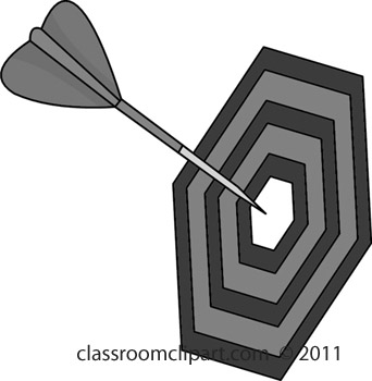 Sports Gray And White Clipart  Dart Board R411h   Classroom Clipart
