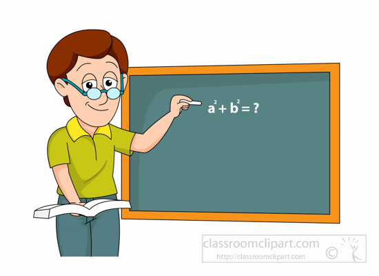 Teacher Writing Expression On Classroom Chalk Board Clipart 1161 Jpg