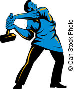Art  4359 Steel Worker Illustration Graphics And Vector Eps Clip Art