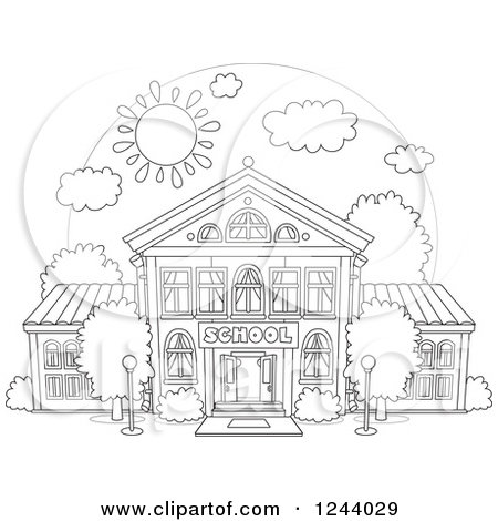 Printable school building coloring pages coloring pages for School building coloring pages