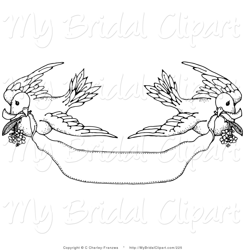 turtle dove template - black and white banner clipart clipart suggest