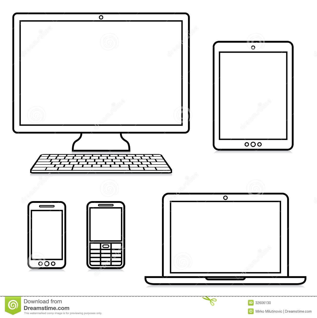 Digital Devices Stock Photo   Image  32606130