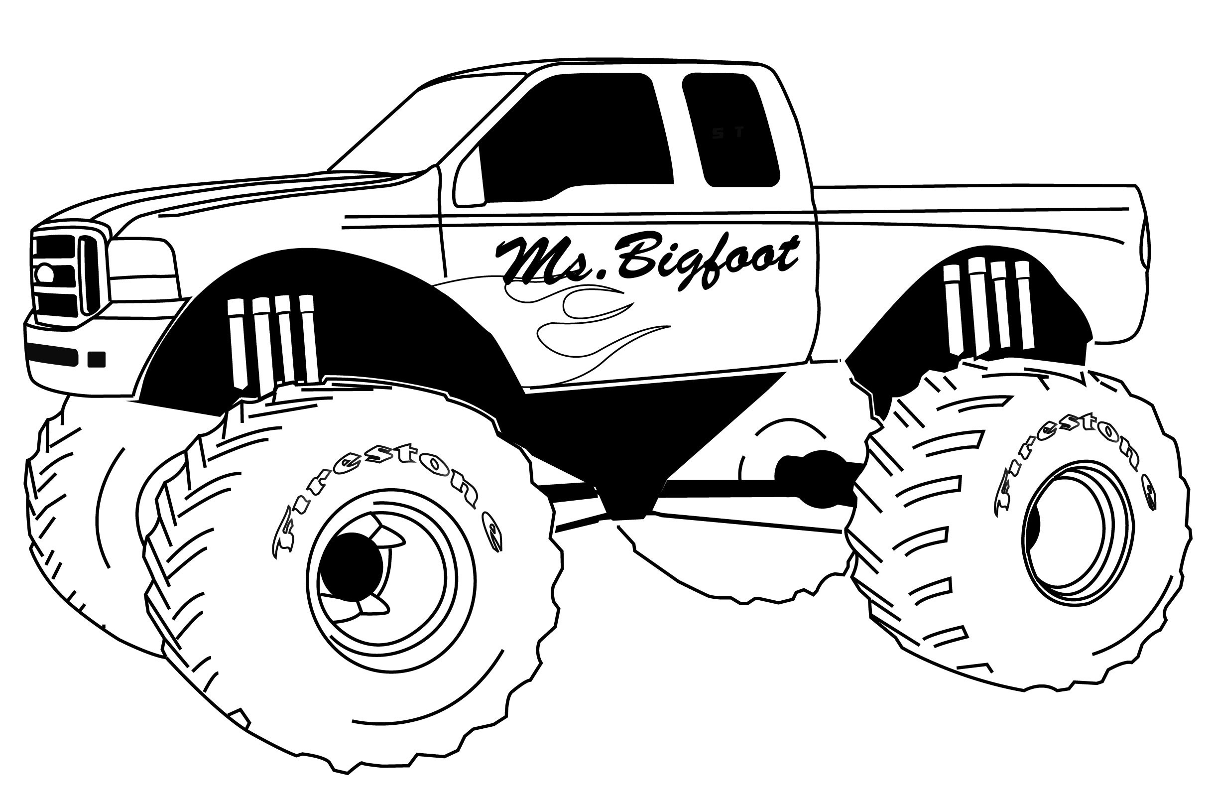 Free Printable Monster Truck Coloring Pages For Kids PrCO18A ...