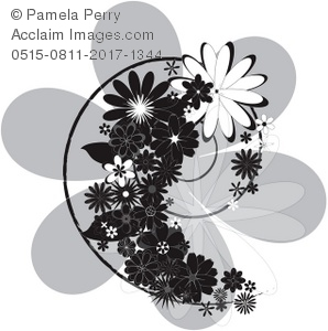 Hawaiian Flowers Clip Art Black And White