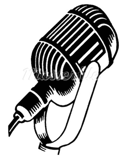 Black And White Microphone Clipart - Clipart Suggest  Microphone Clipart Black And White