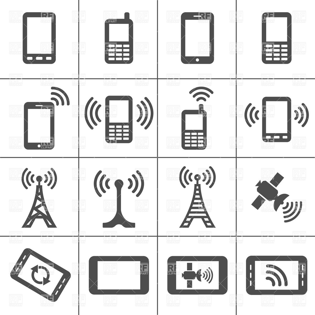 Mobile Devices And Wireless Technology Simplus Icons Series 5940