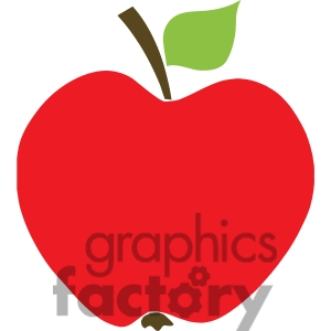 On Rf Clipart Illustration Red Apple Clip Art Image Picture Art 385120