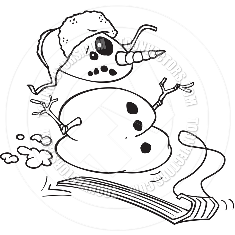 Snowman Clipart Black And White   New Calendar Template Site