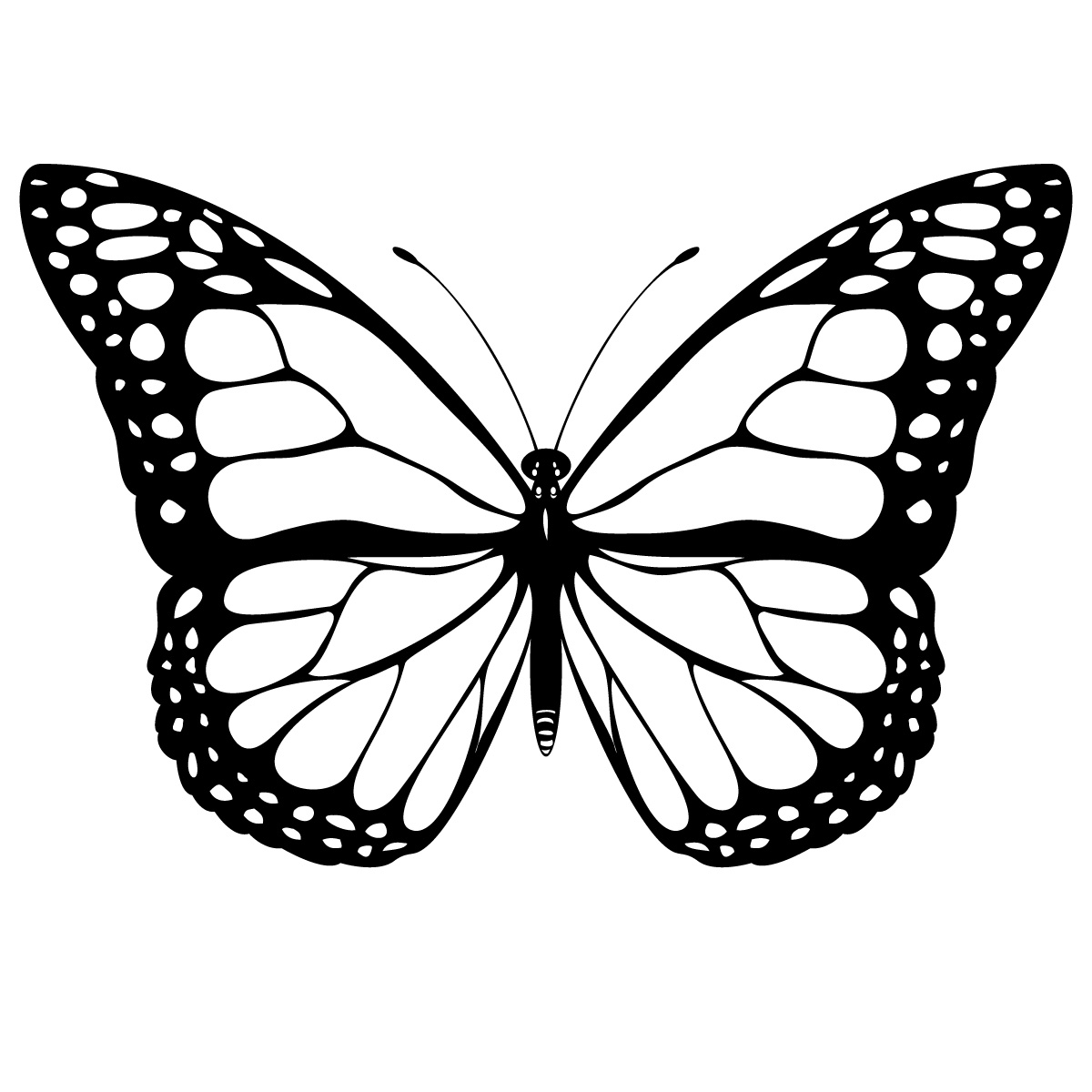 This Drawing Of A Butterfly Is Also An Icon As It Physically Resembles