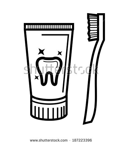 Black And White Toothbrush Clipart - Clipart Kid