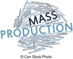 Word Cloud For Mass Production   Abstract Word Cloud For
