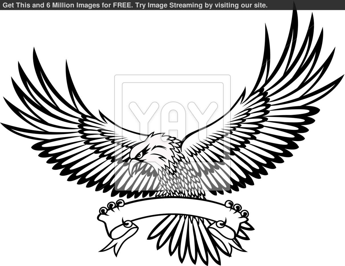 Royalty Free Vector Of Vector Illustration Of Eagle Emblem