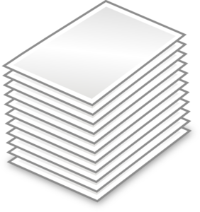 Stack Of Papers Clip Art At Clker Com   Vector Clip Art Online