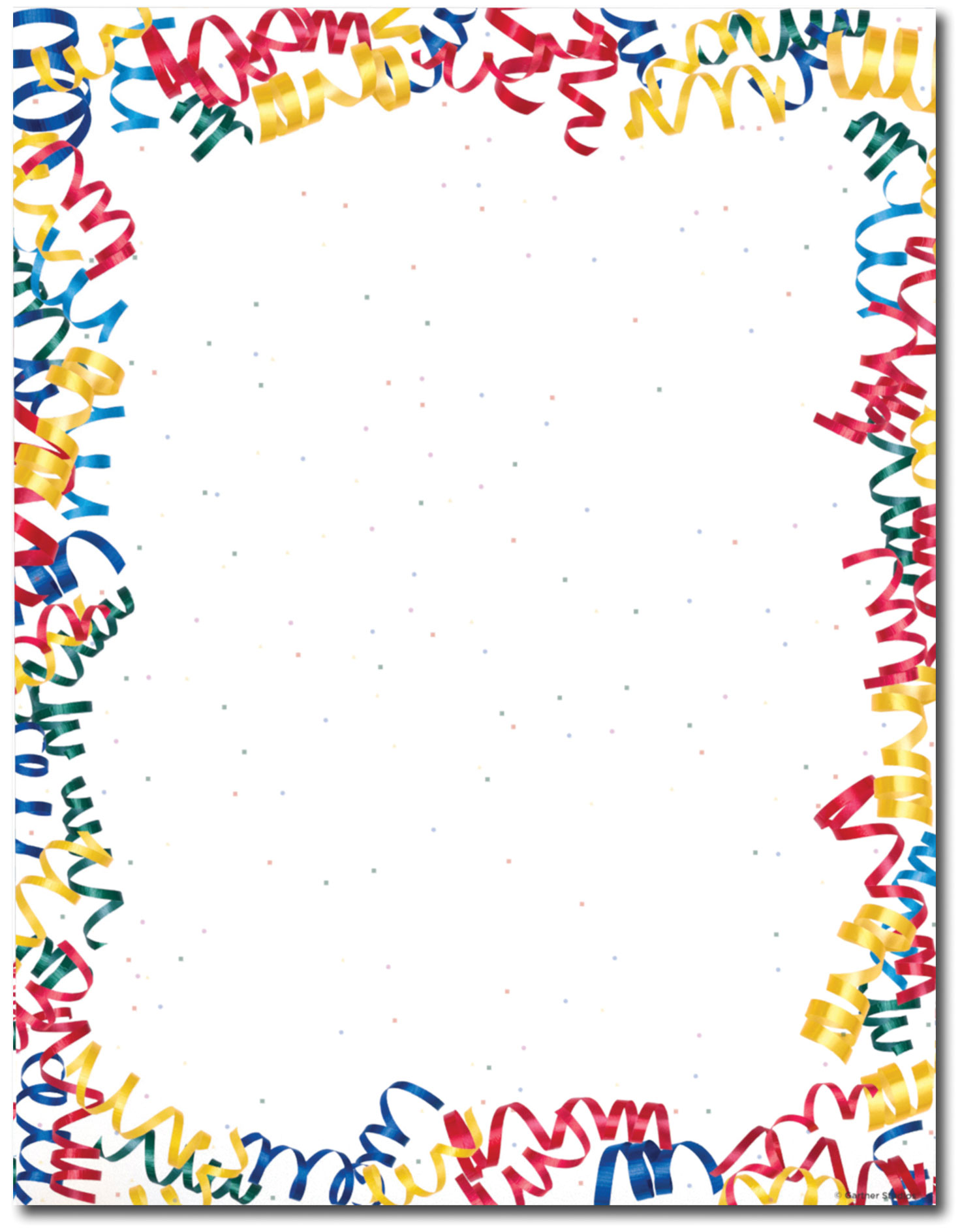 Throw A Party   Confetti Streamers Letterhead
