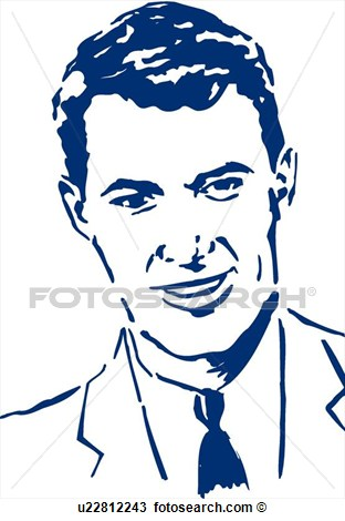 And Shoulders Of Man With Suit And Tie  Fotosearch   Search Clip Art