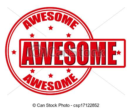 Awesome Clipart Stamp With Word Awesome Inside