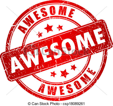 Awesome Clipart Vector   Awesome Vector Stamp