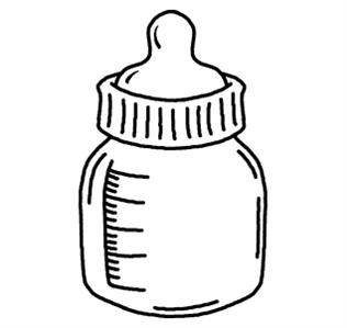 Bottle Black And White Clipart - Clipart Kid