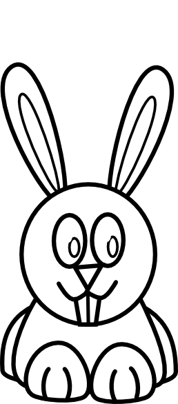 Black And White Bunny Clip Art At Clker Com   Vector Clip Art Online