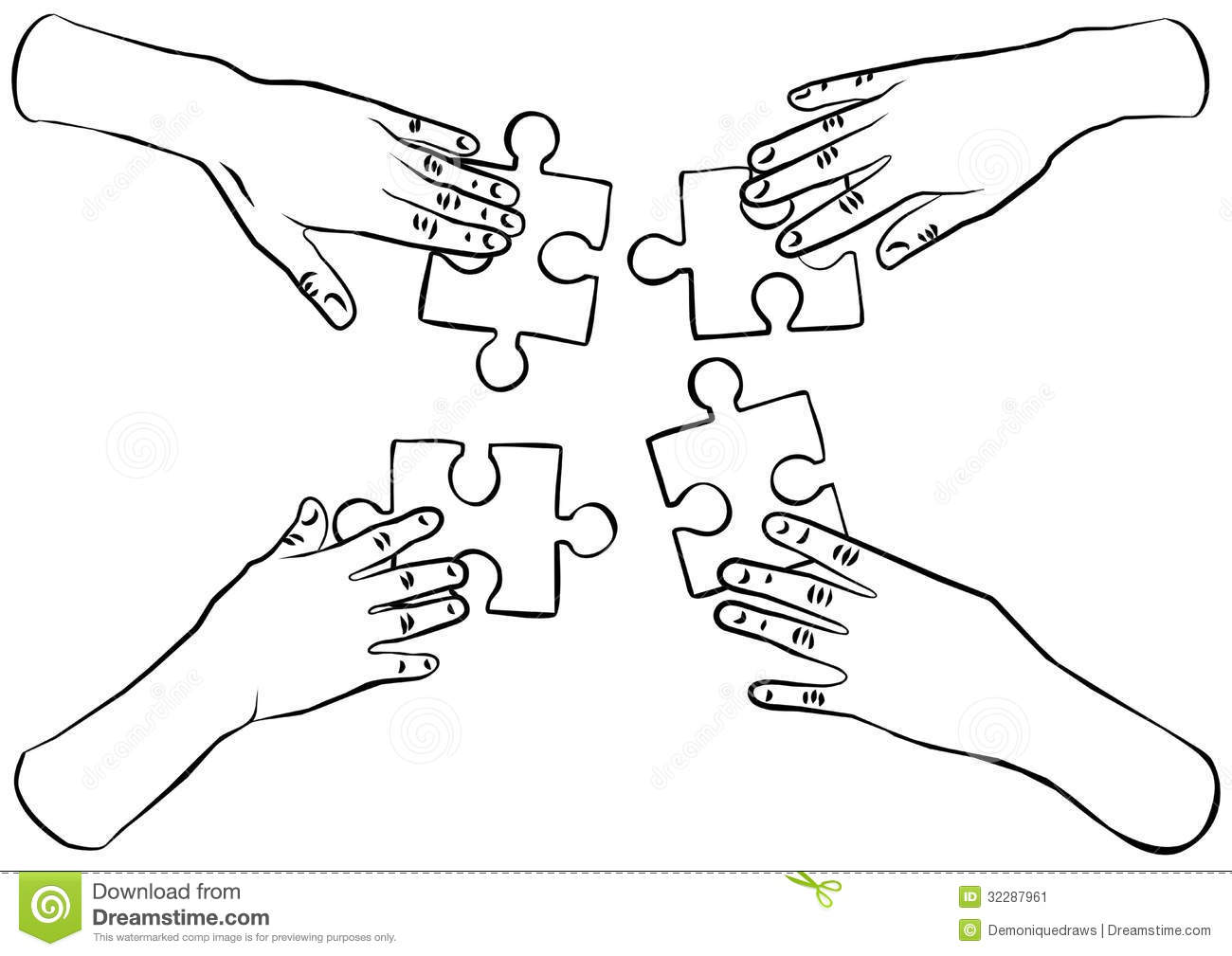 Black And White Puzzle Clipart - Clipart Suggest