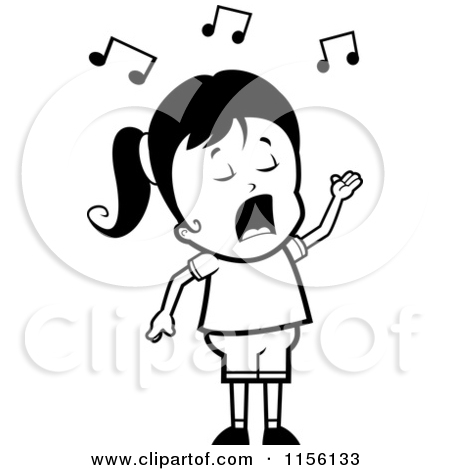Opera Singer Black And White Clipart - Clipart Kid