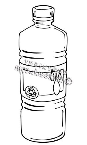 Black And White Water Clipart Water Bottle Clip Art Black And White