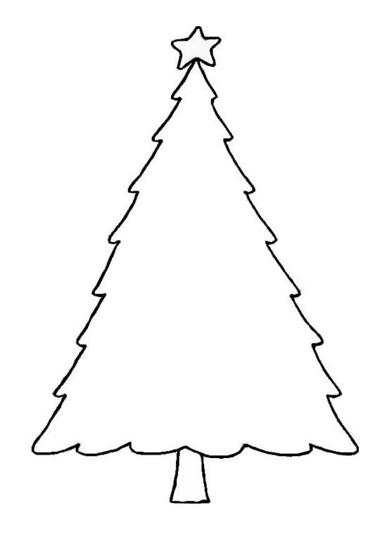 Blank Christmas Tree Outline Printable Template Clip Art Images